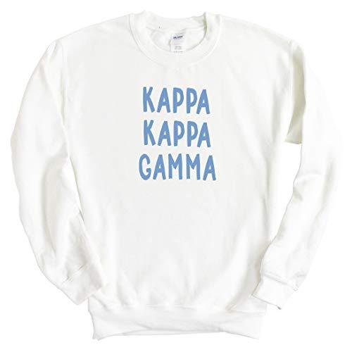 KKG Kappa Kappa Gamma Blue Bubble Letter Sorority Crewneck Sweatshirt