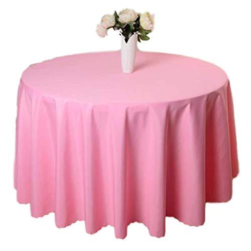 LR xiaorunfa Mantel Blanco Redondo De Poliéster De 10 Piezas Para Mantel De Hotel De Boda Cubierta De Mantel Mantel Negro 300CM roze