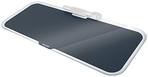Leitz Desktop-Memoboard mit Glasoberfläche, Samtgrau, Cosy Serie, 52690089