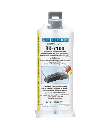 WEICON 10566150-36 Easy-Mix RK-7100 50 g de Adhesivo Estructural acrílico para plástico y Metal Negro