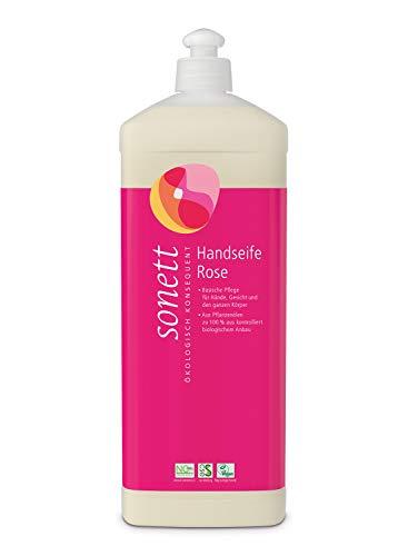 Handseife Rose: Basische Pflege für Hände, Gesicht und den ganzen Körper, 1 l