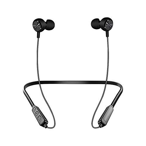 Neck Wear Bluetooth koptelefoon | Draadloze koptelefoon, 5.0 Bluetooth met 8 uur batterij, waterdichte koptelefoon voor hardlopen | Stereo koptelefoon met ruisonderdrukking