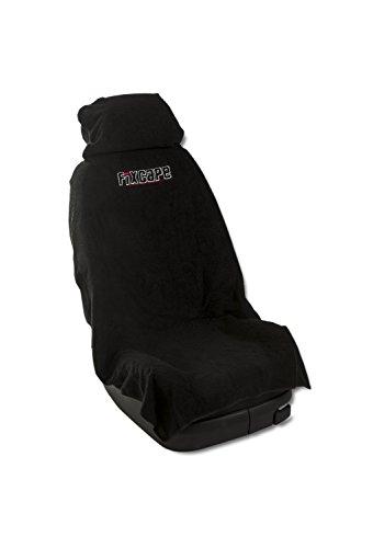 fixcape Autositzbezüge universal als Überwurf aus Baumwolle, Autositzbezug Schonbezug Sitzbezug für das Auto, Sitzbezüge Autositz, Werkstattschonbezug Vordersitze, Schwarz
