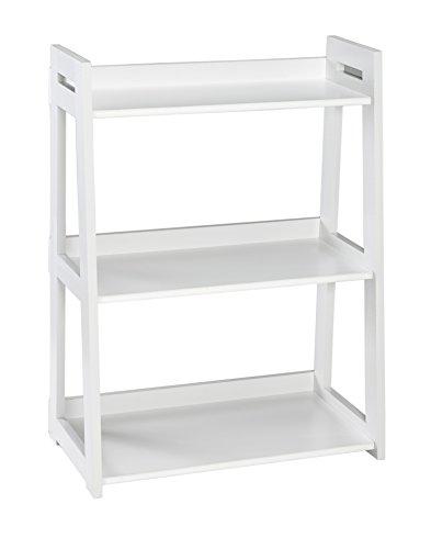 ClosetMaid 3316 No-Tool Assembly Wide 3-Tier Ladder Shelf, White