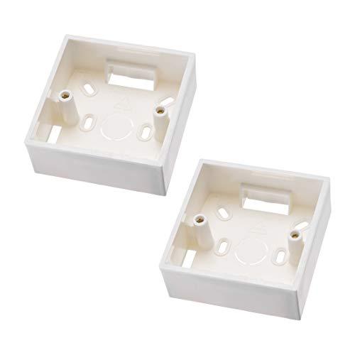 Sourcing Map Wandschalter Box elektrische Steckdose Montage Kassetten Einzelgang 2 Stück