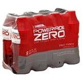 POWERADE ENERGY DRINK ZERO FRUIT PUNCH 8 PACK...