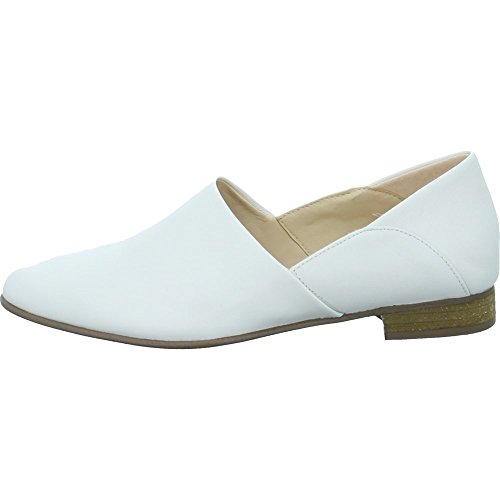 Clarks Damen Pure Tone Slipper, Weiß (White Leather), 38 EU