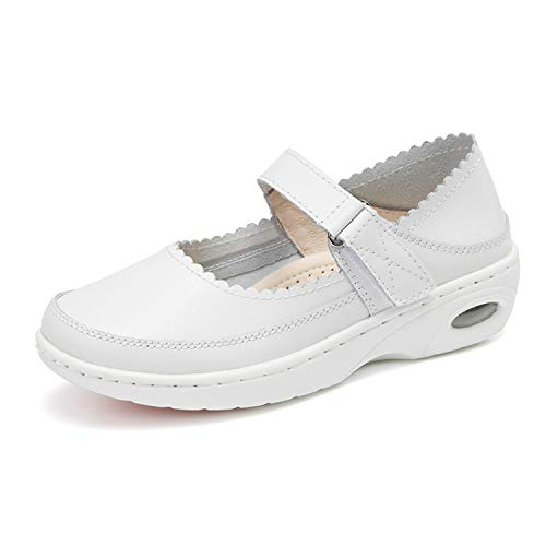 [Bornran] 病院 医療 ナース 看護 介護 靴シューズ 医者 長時間立ち仕事 疲れない 歩きやすい レディース 白 24.5cm