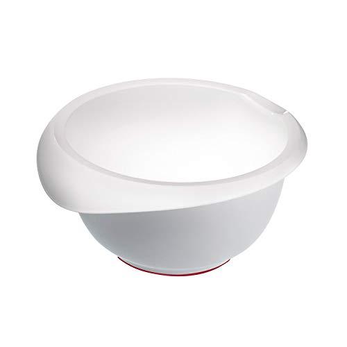 Westmark Rühr-/Backschüssel, 2,5 l, Mit Ausgießer, Kunststoff, Weiß, 3152227W