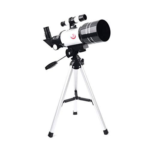 RUI - K25 Telescopio astronómico, telescopio Refractor de 300/70 mm Telescopio monocular con Lente 150X con trípode y Alcance del buscador for Principiantes Niños Sky Stars Watching