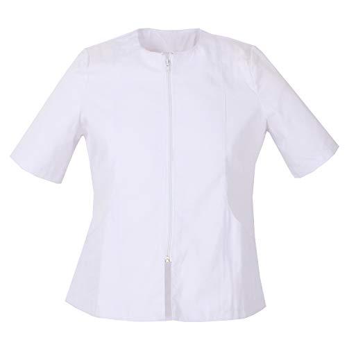MISEMIYA - Arbeitskleidung Frau MIT REIßVERSCHLUSS UNIFORM KLINIK Krankenhaus Reinigung TIERARZT Gesundheit GASTGEWERBE Ref: 830 - Medium, Weiß