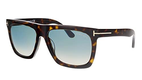 Tom Ford FT0513 Morgan Square Sunglasses, Dark Havana, 57-16-140