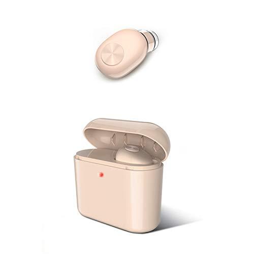 TOOGOO Invisible Inalámbrico Mini Auricular Bluetooth Teléfono Móvil Inalámbrico con 700 Mah de Carga Caja Portátil