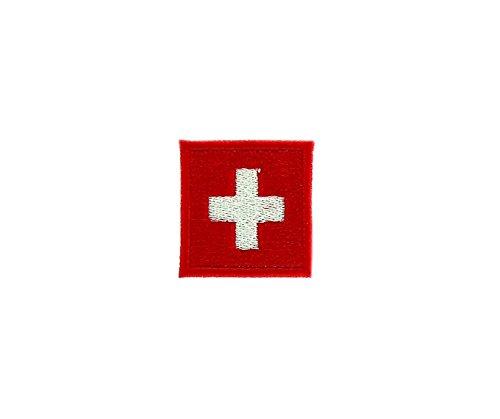 Patch Ecusson-gesticktem zum Aufbügeln Flagge Schweiz Jacke Backpack Switzerland