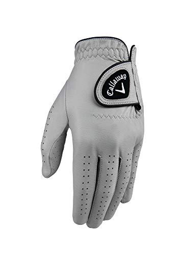Callaway Golf-Handschuhe für Herren, Opticolor, Leder, auf der linken Hand getragen, Cadet, Größe XL, Grau