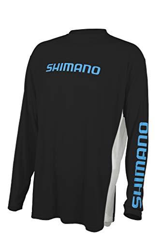 SHIMANO Long Sleeve Tech Tee Fishing Gear, Carbon, Large