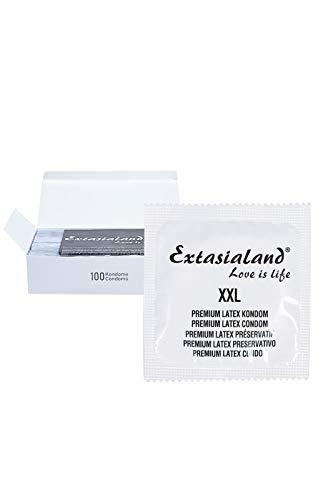 Extasialand Markenkondome 100 Kondome XXL im praktischen Sparpack Präservative extra groß