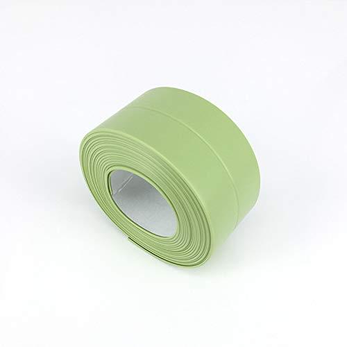 Marco de ventana Cinta de sellado de baño Cosa Coser Cocina Fregadero Gancho de inodoro Crack Tira de pared Pegatina impermeable (Color : Green)