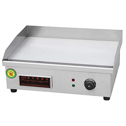 Griddle eléctrico grande para cocinar de acero inoxidable, ajustable, para el contrapeso, caliente, para barbacoa, freír, comida