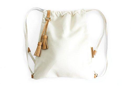 Vale BACKPACK, mochila tejido y cuero, de tejido technico IMPERMEABLE