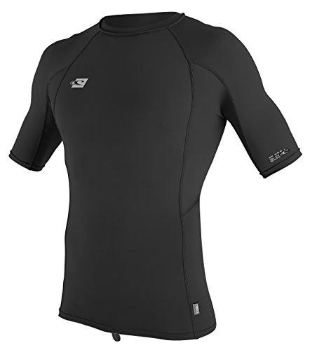 O'Neill Men's Premium Skins UPF 50+ Short Sleeve Rash Guard, Black/Black/Black, XL