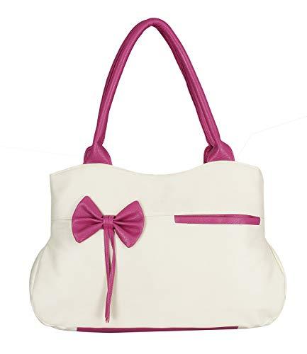 Fristo Women Handbag Cream and Pink(FRB-048)