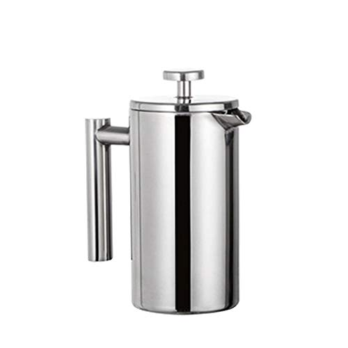 SNOWINSPRING 800Ml French Press Coffee Maker Double Insulated Steel French Coffee Dripper Teapot