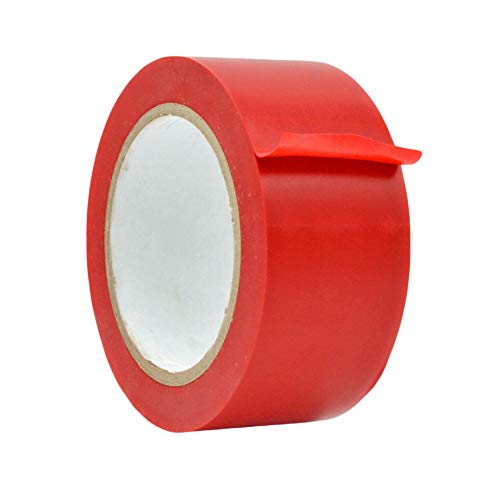WOD VTC365 Red Vinyl Pinstriping Tape, 2 inch x 36 yds. for School Gym Marking Floor, Crafting, & Stripping Arcade1Up, Vehicles and More