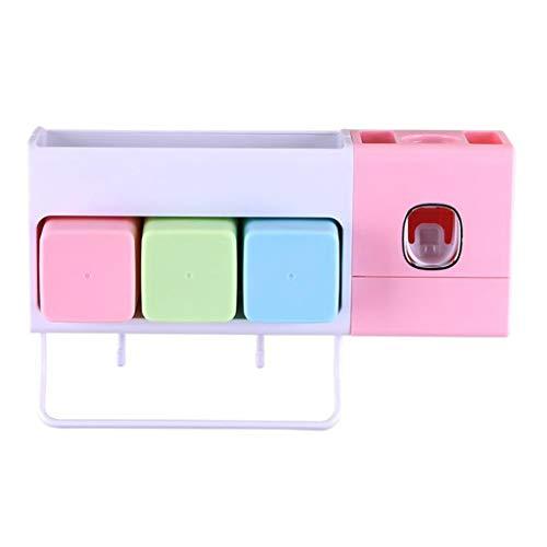 Tandenborstel Sterilisator Tandenborstelhouder AntiBacteria UV Wall Mounted Automatische Tandenborstel opslag beugel for badkamer (Color : Pink)