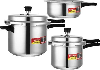 Cocina de inducción de 5 L y 3 L y 2 L Cocina inferior de aluminio Color plata