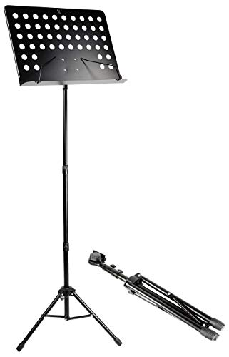 RockJam Height and Angle Adjustable Orchestral Conductor Sheet Stand (G905)