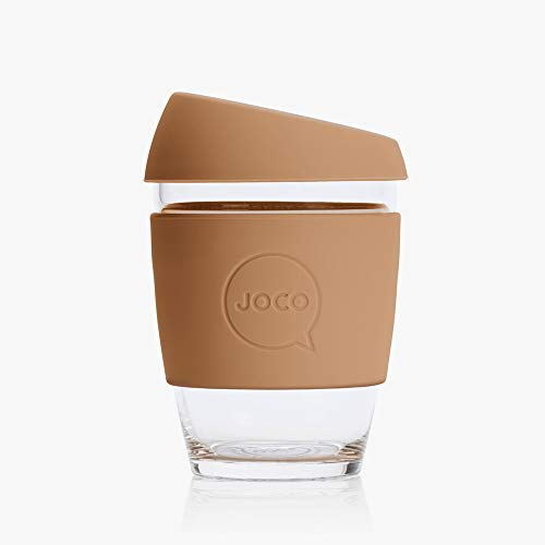 Joco Kaffeebecher aus Glas, wiederverwendbar, 340 ml Butterum