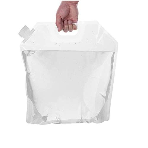 Bolso De Agua Plegable Portátil Transparente del Envase del Agua Duradero De...