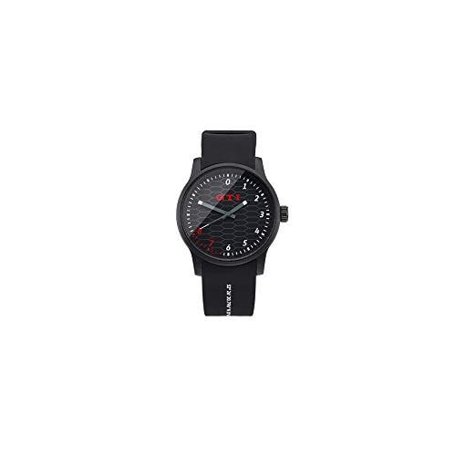Volkswagen 5HV050830 Reloj de Pulsera analógico GTI, Color Negro