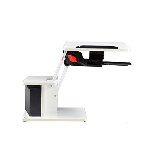 FEI Table de lit, bureau d'ordinateur pliant, hauteur réglable pour bureau de lit Rotation à 360 ° Bureau incliné