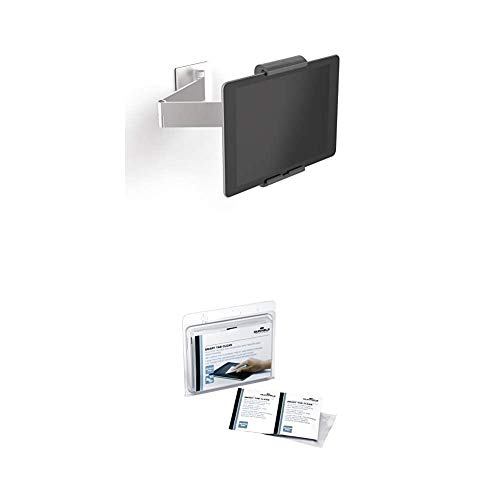 Durable 893423 Tablet Wandhalterung (mit Schwenkarm für Tablets 7-13 Zoll, 360°...