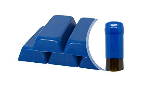 Generico Paquete de goma laca azul de 500 g o cera suave para sellar botellas de vino, cerveza, licores (azul)