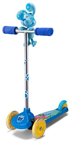 Schwinn Nickelodeon Blues Clues Kids Swingin Scooter, Ages 3-5 Years Old, 3 Wheels, Lean and Steer Technology for Beginner Riders, Blue