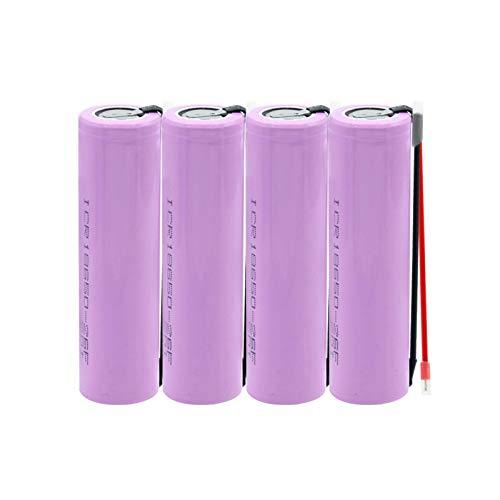 josiedf Batería De Iones De Litio ICR 26650 3.7v 6800mah, Recargable para Reemplazo De Dispositivos De Almacenamiento De Energía Ups De CáMara Digital 4pieces