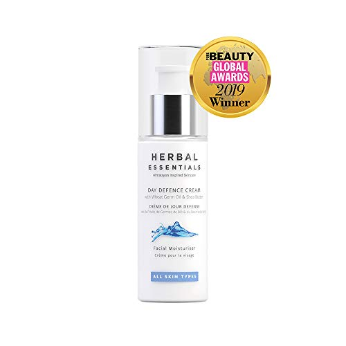 Herbal Essentials Day Defence Cream, 96% Natural Ingredients with Wheat Germ Oil and Shea Butter, Bursting with Essential Nutrients and Antioxidants for Soft and Nourished Skin, Premium Skincare 50ml