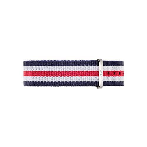 Daniel Wellington Classic Canterbury, Correa Reloj Azul-Blanco-Rojo/Plateado, 18mm, NATO, para Mujer y Hombre