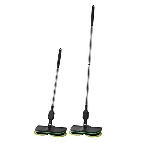 Inalámbrico Mopa giratoria eléctrica Limpieza de mano Spinning Recargable Limpiador de piso...