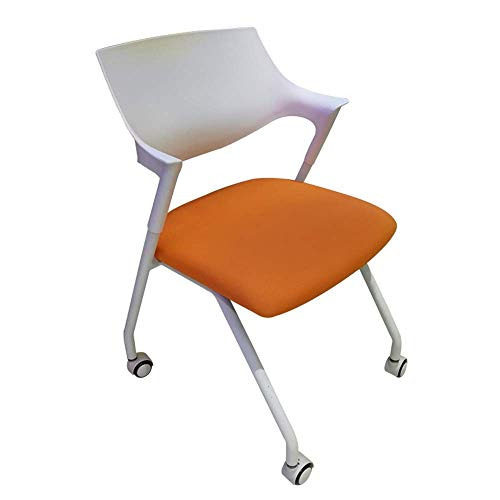 Simple Modern Chair Multifunctional Foldable Office Chair with Wheels and Metal Feet Training Chair Conference Chair for Office Home Use
