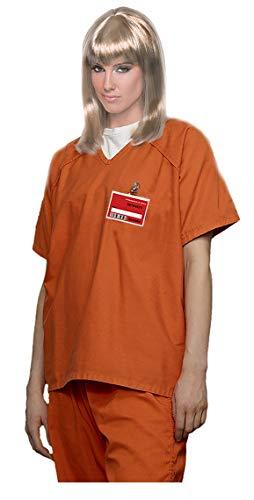 Women's Orange Scrub Set Prisoner Costume Orange