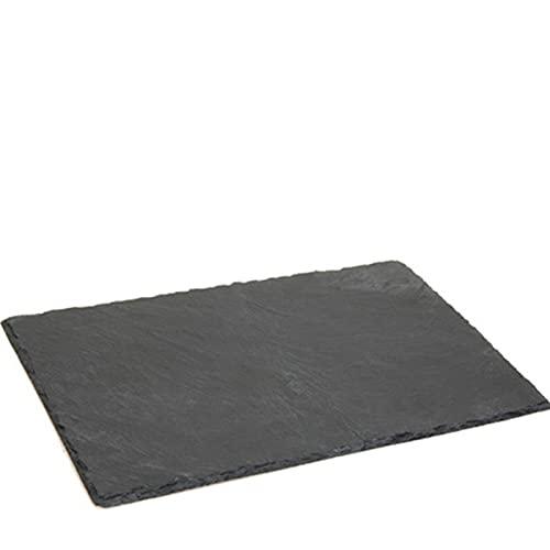 Tabla de pizarra rectangular, bandeja de pizarra, 20 x 30 cm