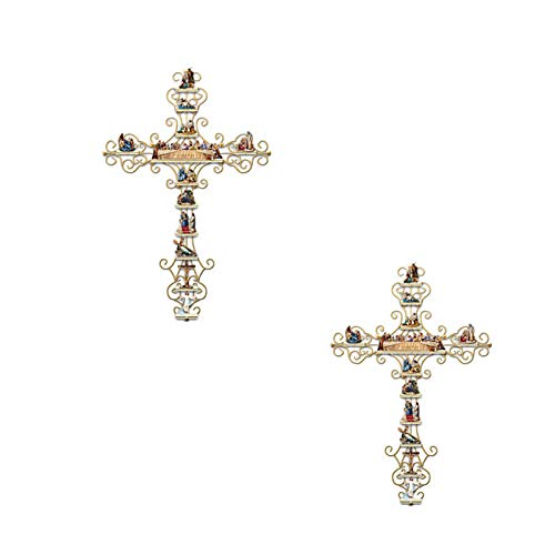 2pcs La vita di Cristo crocifisso attraversa la vita di Christ Collection Display Adesivo croce per i regali cristiani PVC Adesivo da parete Decalcomania Decalcomania Accessori bibbia,G,45*60