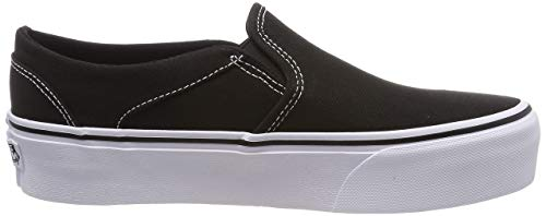 Vans Damen WM Asher Platform Slip On Sneaker, Schwarz ((Canvas) Black 3sy), 38 EU