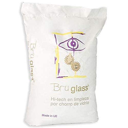 BruGlass BlasterGlass Hi Tech abrasivo tecnico in vetro sabbia per pulizia e sabbiatura con sacco jet da 10 Kg