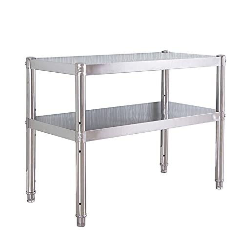 Commercial Worktables & Workstations,Stainless Steel Work Table,Butcher Block Countertop,Adjustable Work Table,Kitchen Prep Station,Kitchen Counter Shelf,Prep Tables for Commercial Kitchen