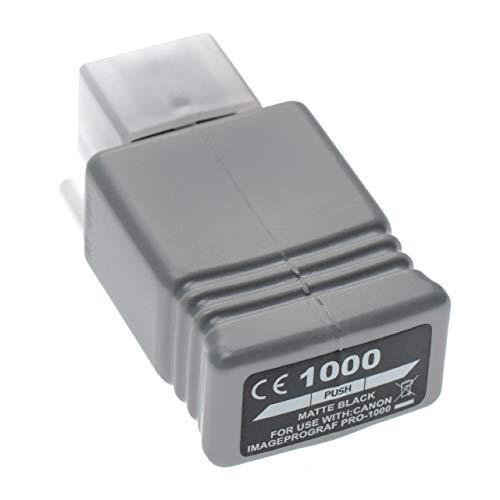 vhbw Cartucho de Tinta Negro Mate reemplaza Canon PFI-1000 MBK, PFI-1000MBK - Cartucho para Impresora, 80ml+Chip